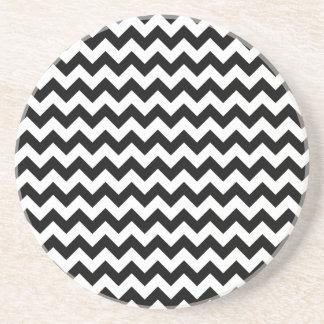 Black and White Chevron Coaster
