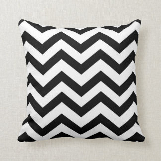 Black and White Chevron Cushion