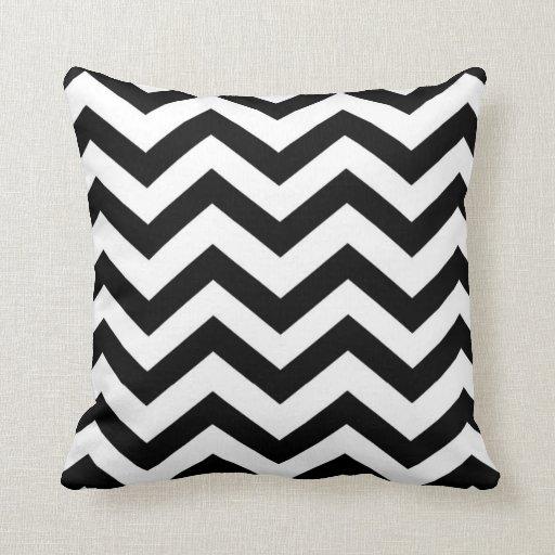 Black and White Chevron Pillow