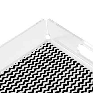 Black and White Chevron Design Tray