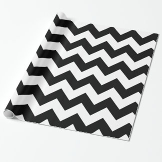 Black and White Chevron Gift Wrapping Paper