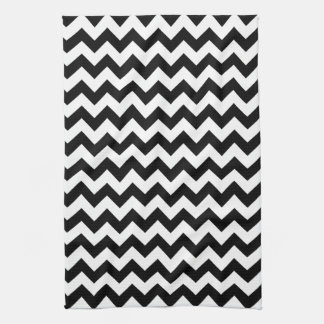 Black and White Chevron Hand Towel