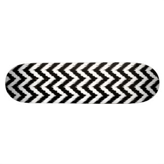 Black and White Chevron Ikat Pattern Skateboard Decks