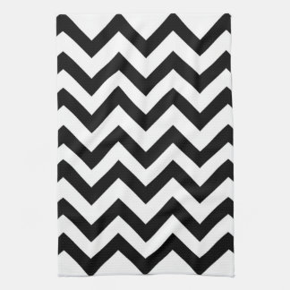 Black and white chevron kitchen towel