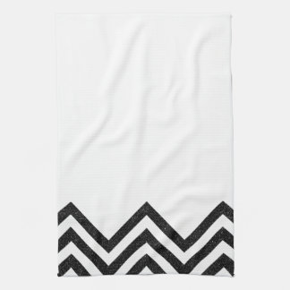 Black and white chevron kitchen towel II