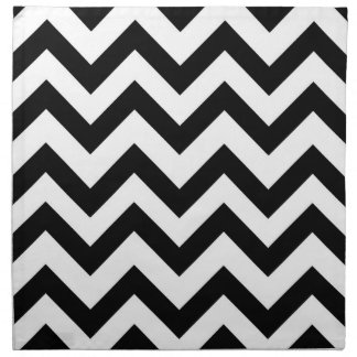 Black and white chevron napkin