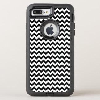 Black and White Chevron OtterBox Defender iPhone 7 Plus Case