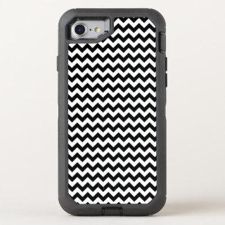 Black and White Chevron OtterBox Defender iPhone 8/7 Case
