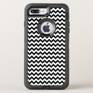 Black and White Chevron OtterBox Defender iPhone 8 Plus/7 Plus Case