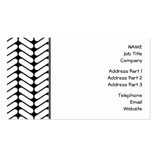 Knitting Logo Business Cards : Black and white chevron pattern like knitting business