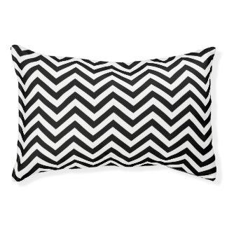 Black and White Chevron Pet Bed
