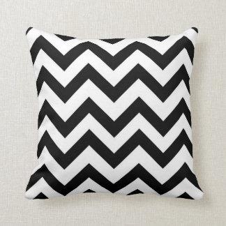 Black and white chevron pillow cushions