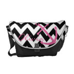 Black and White Chevron Pink Anchor Diaper Bag
