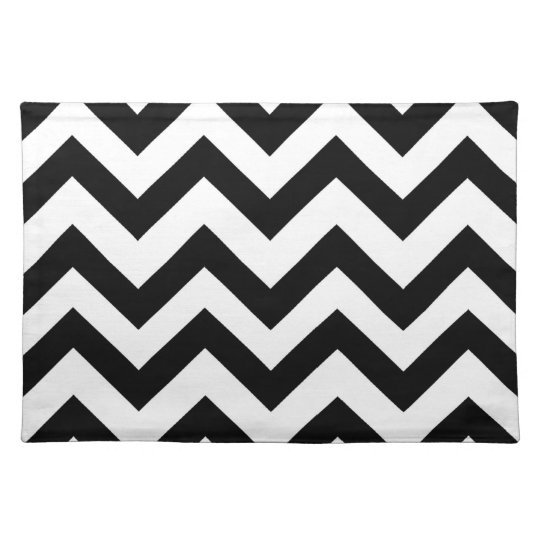 Black and white chevron placemat