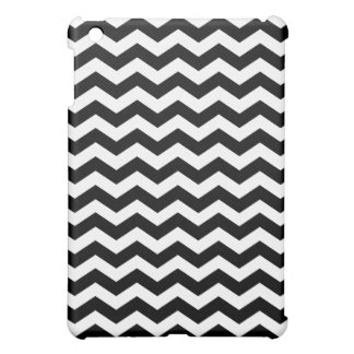 Black and White Chevron Stripes iPad Mini Case