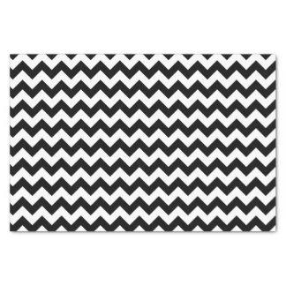 """Black and White Chevron Tissue Paper 10"""" X 15"""" Tissue Paper"""