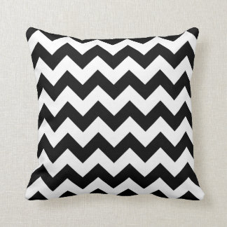 Black and White Chevron Zigzag Cushion