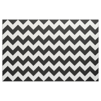 Black and White Chevron Zigzag Fabric