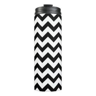 Black And White Chevron Zigzag Pattern Thermal Tumbler