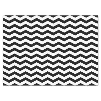 Black and White Chevron Zigzag Tissue Paper
