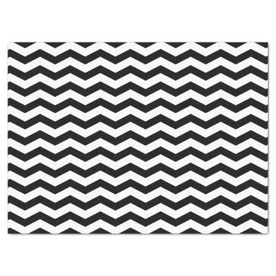 Black and White Chevron Zigzag Tissue Paper