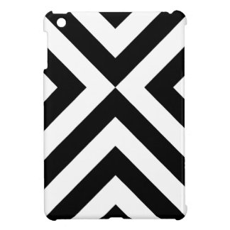 Black and White Chevrons Cover For The iPad Mini