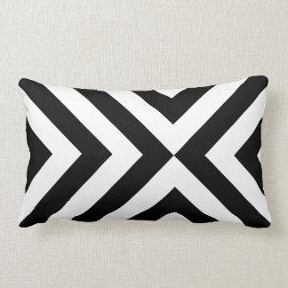 Black and White Chevrons Throw Pillows