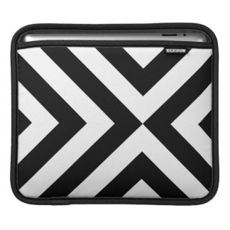 Black and White Chevrons iPad Sleeve