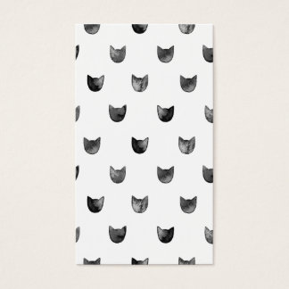 Black and White Chic Cute Cat Pattern