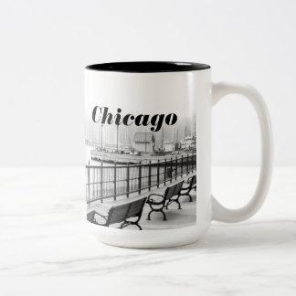 Black and White Chicago Photo Mug