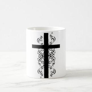 Black and White Christian Cross Morphing Mug