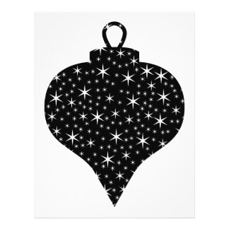Black and White Christmas Bauble Design. 21.5 Cm X 28 Cm Flyer