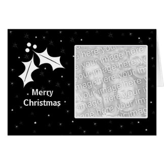 Black and White Christmas (photo frame) Greeting Card