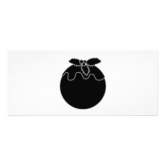 Black and White Christmas Pudding Custom Invitations