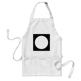 Black and White Circle, Simple Geometric Design. Standard Apron
