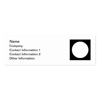 Black and White Circle, Simple Geometric Design. Pack Of Skinny Business Cards