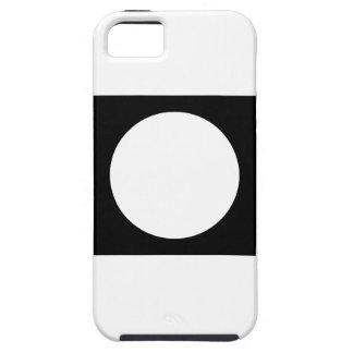 Black and White Circle, Simple Geometric Design. Tough iPhone 5 Case