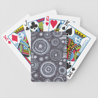 Black and White Circles Bicycle Playing Cards
