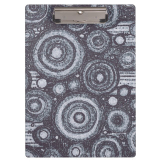 Black and White Circles Clipboard