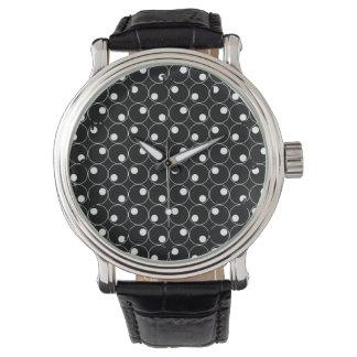 Black and White Circles, Polka Dots Watch