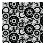 Black and White Circles Poster