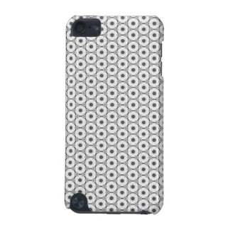 Black and White Circular Pattern iPod Touch 5G Cover