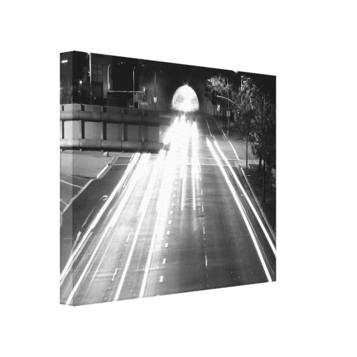 Black And White Cityscape 10 Gallery Wrapped Canvas