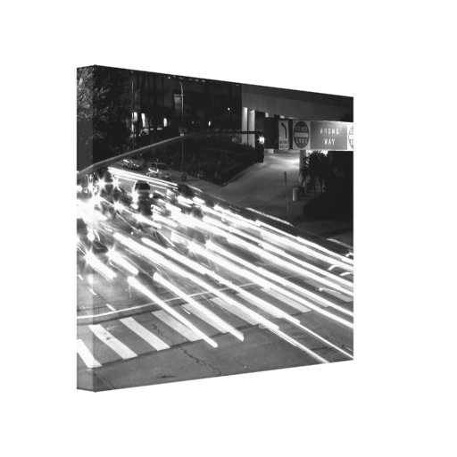 Black And White Cityscape 11 Gallery Wrapped Canvas