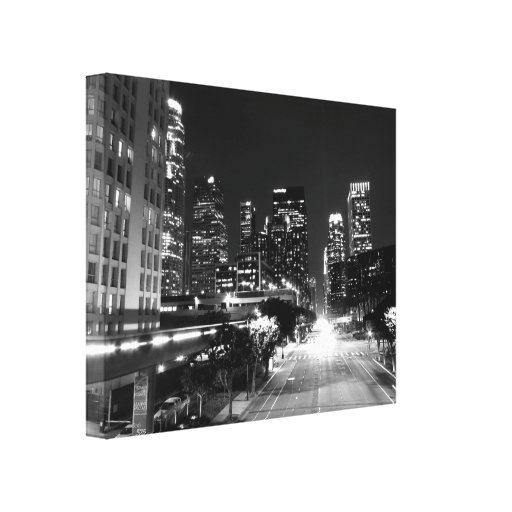 Black And White Cityscape 15 Gallery Wrap Canvas