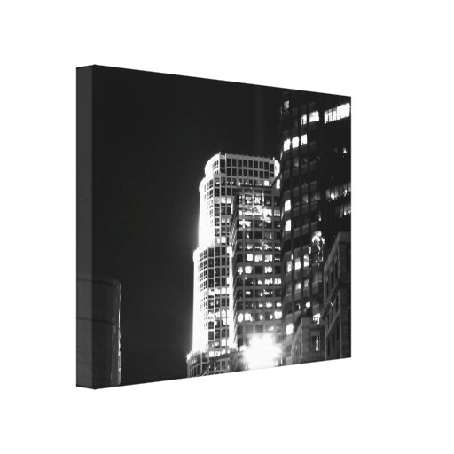 Black And White Cityscape 16 Gallery Wrapped Canvas