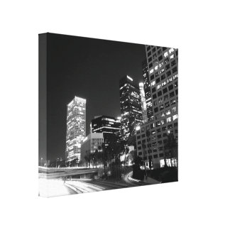 Black And White Cityscape 17 Canvas Print