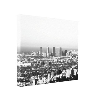 Black And White Cityscape 1 Canvas Print