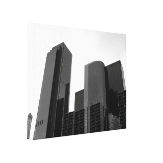 Black And White Cityscape 3 Stretched Canvas Print