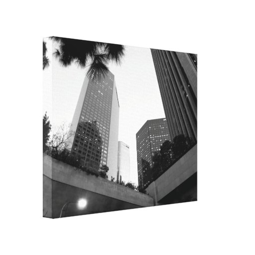 Black And White Cityscape 4 Gallery Wrapped Canvas
